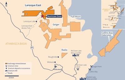Figure 1 – Larocque East Property Map (CNW Group/IsoEnergy Ltd.)