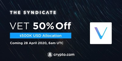 Crypto.com Exchange to offer VET at 50% OFF with a $500,000 USD allocation for CRO stakers.