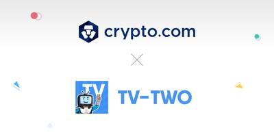 Crypto.com and TV-TWO announced a partnership to jointly drive crypto adoption (PRNewsfoto/Crypto.com)