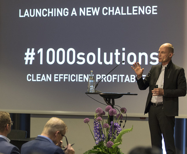 Bertrand Piccard, chairman/founder of the Solar Impulse Foundation, explains 1000 Solutions for profitable environmental protection.