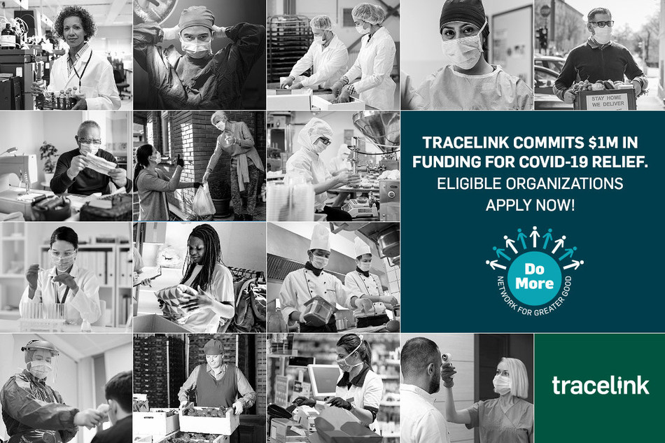 Apply now through May 15th for $1 Million in COVID-19 relief funding from TraceLink. Eligible organizations should visit https://www.tracelink.com/covid-19-response to fill out the grant form.