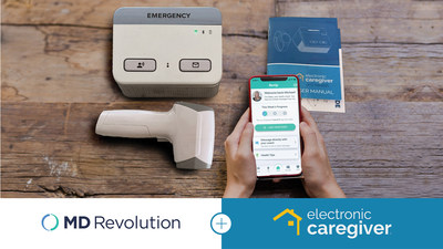 Electronic Caregiver has partnered with MD Revolution, Inc. to provide health practices with remote patient monitoring technology. Pictured is Electronic Caregiver's Pro Health system alongside MD Revolution's RevUp software platform.