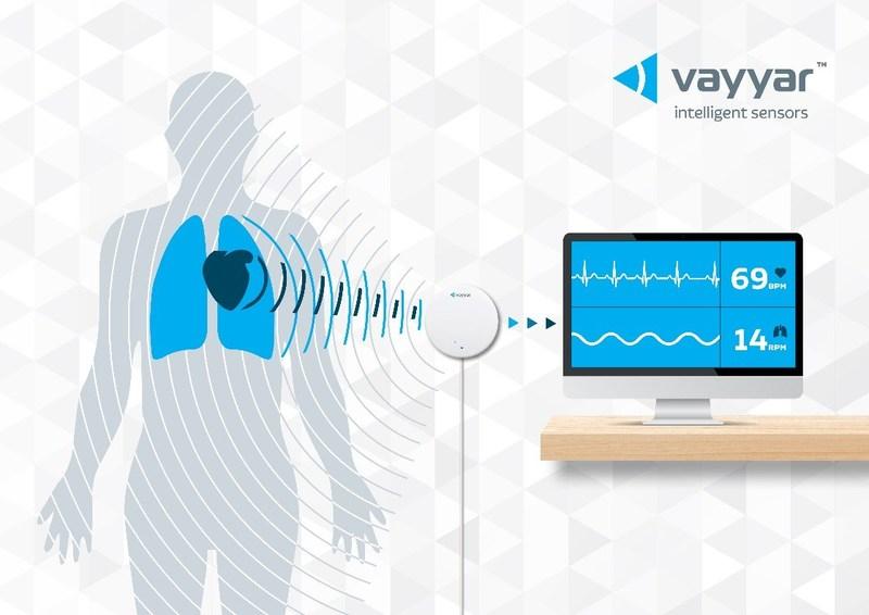 Vayyar's sophisticated 4D radar imaging system remotely monitors key vital signs