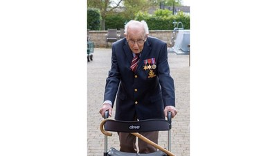 Centenarian Captain Tom Moore's Historic Campaign on Blackbaud's JustGiving Platform Surpasses £14 million for COVID-19