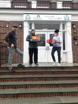 Nick Kraus, CEO of Kraus Marketing, delivers meals to Homeless Solutions located in Morris County, NJ.