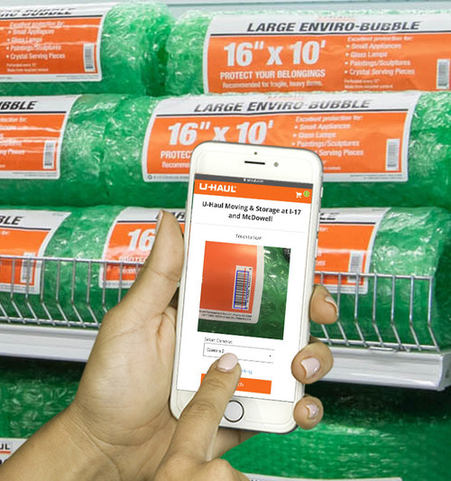 U-Haul® is introducing new contactless shopping technology – U-Haul Scan & Go – in all Company-owned stores across the U.S. and Canada.