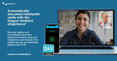 Nuance launches Dragon Ambient eXperience (DAX™) for telehealth, compatible with any telehealth platform