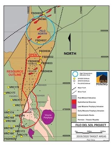 Filo Drill Hole Locations (CNW Group/Filo Mining Corp.)