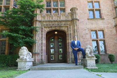Real estate developer Tom Maoli in front of the Abbey.