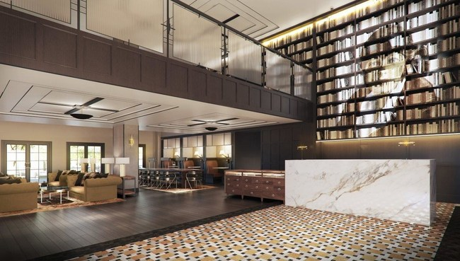 Capturing the spirit of Purdue's innovations, the lobby will undergo the most significant transformation where guests will be treated to a grand entrance in a modern loft-like feel created by removing several guest rooms above the existing space. (PRNewsfoto/White Lodging)