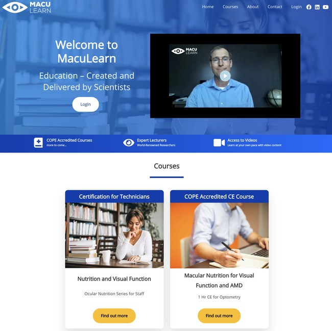 The availability of COPE approved online CE through MacuLearn is even more timely, given the enormous impact of COVID-19 on education and continued learning, with most of this year's eyecare conferences delayed or canceled.