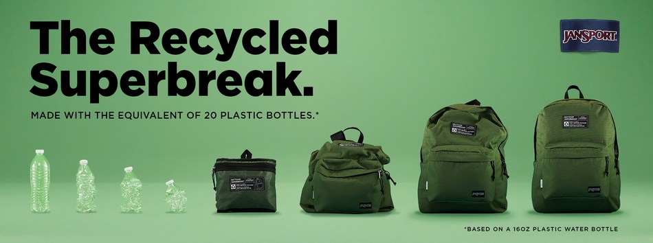 JanSport's new Recycled SuperBreak releases May 1, 2020.