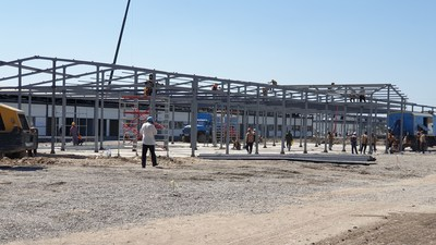 Construction of two new hospital complexes are being built in the Zangiota district of Tashkent