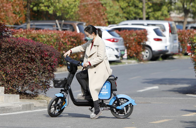 Hellobike launched new E-bike Yunqi. Shared E-bikes become the popular viechles in tier 2,3 cities in China
