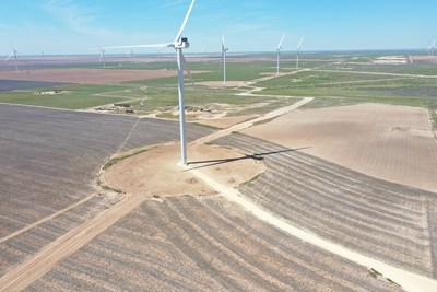 The Bearkat II Wind Energy Project in Glasscock County, Texas.