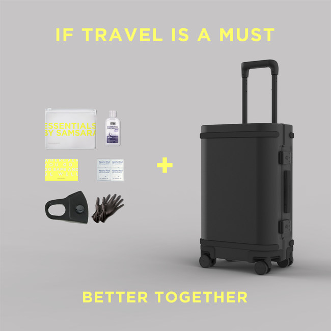 Samsara Luggage recently launched its Essentials by Samsara safety kits to compliment the tech security offered by its smart carry-on suitcase.