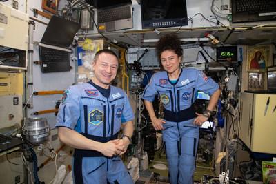 The NASA & TI Codes Contest challenges middle and high school students to improve a process or product on the International Space Station. Pictured are Expedition 62 Flight Engineers Andrew Morgan and Jessica Meir inside the International Space Station's Zvezda service module. Photo Credit: NASA