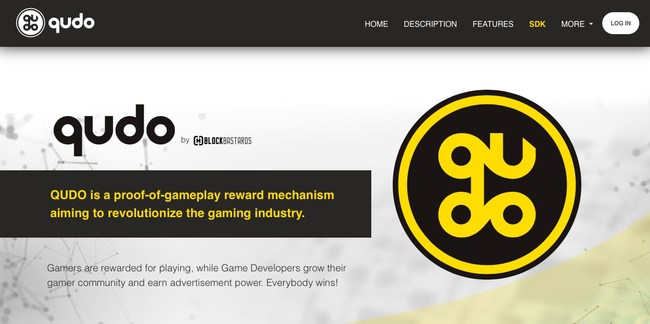 Qudo Website offers game developers information on how to start using their program.