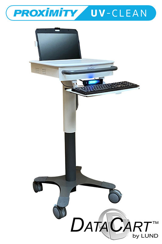 DataCart's mobile workstation using Proximity System's self-disinfecting UV-CLEAN Light technology.
