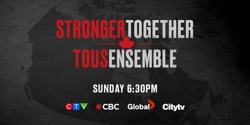STRONGER TOGETHER, TOUS ENSEMBLE (CNW Group/Bell Media)