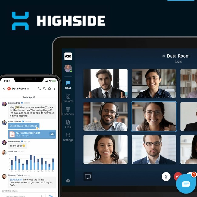 HighSide Voice & Video provides a team collaboration platform that is ultra-secure, private and compliant. It is easy to use and fast and straightforward to install.