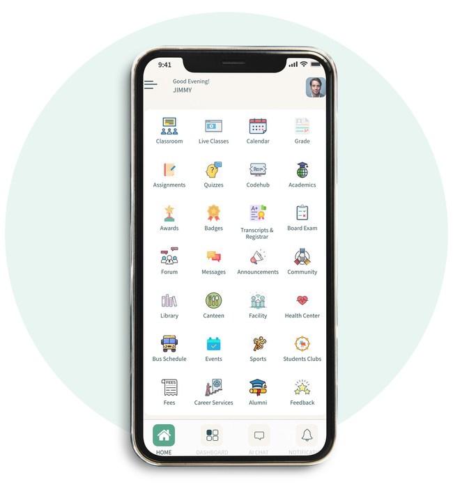 Screenshot of Fuse Classroom mobile app