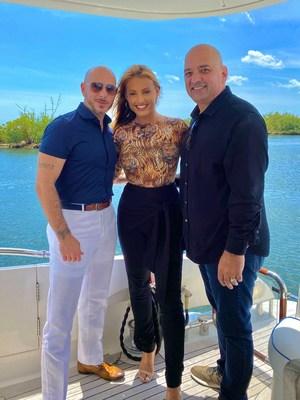 L-R Pitbull, Montana Tucker, Robert Fernandez
