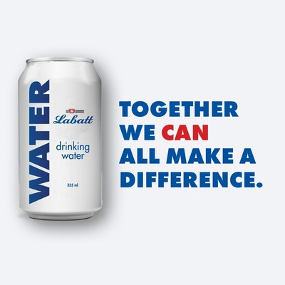 Labatt Breweries of Canada is again mobilizing its breweries to produce and deliver six truck loads with 223,000 cans of drinking water to support COVID-19 relief efforts in Toronto. (CNW Group/Labatt Breweries of Canada)