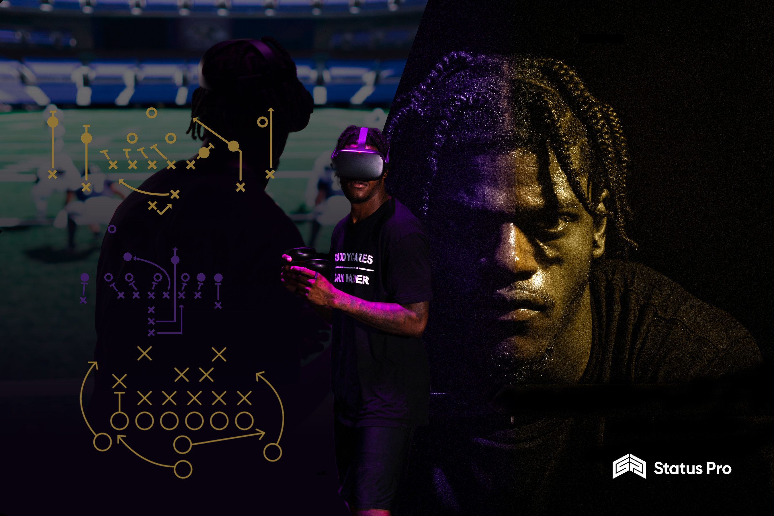 Status Pro Partners With Nfl Mvp Lamar Jackson To Produce The Lamar Jackson Experience Through A Suite Of Vr Products Which Includes An At Home Virtual Reality Game