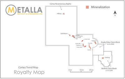 Reversionary Rights Map (CNW Group/Metalla Royalty and Streaming Ltd.)