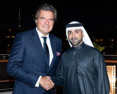 "(Left to Right) ""Sir Anthony Ritossa, Ritossa Family Office and H.E. Sheikh Abdulaziz bin Duaij bin Khalifa Al Khalifa"""