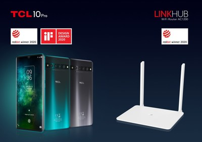 TCL 10 Pro and TCL LINKHUB Wi-Fi Router AC1200