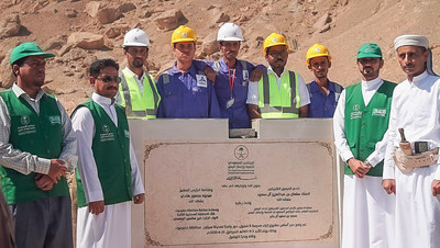 SDRPY lays the cornerstone for a new school in the Seiyun district of Hadhramaut provine in Yemen