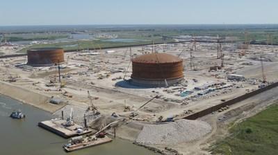 Instalação de exportação de gás natural líquido Venture Global Calcasieu Pass (PRNewsfoto/Venture Global LNG)