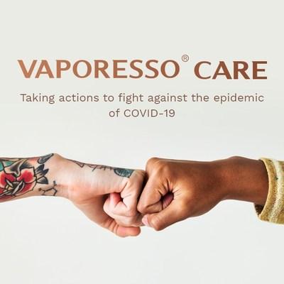 Vaporesso toma medidas para luchar contra la epidemia de COVID-19 (PRNewsfoto/VAPORESSO)