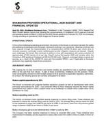 ShaMaran Provides Operational, 2020 Budget and Financial Updates (CNW Group/ShaMaran Petroleum Corp.)