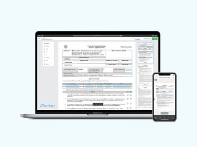 Fill and sign SBA loan applications from directly within SignEasy.