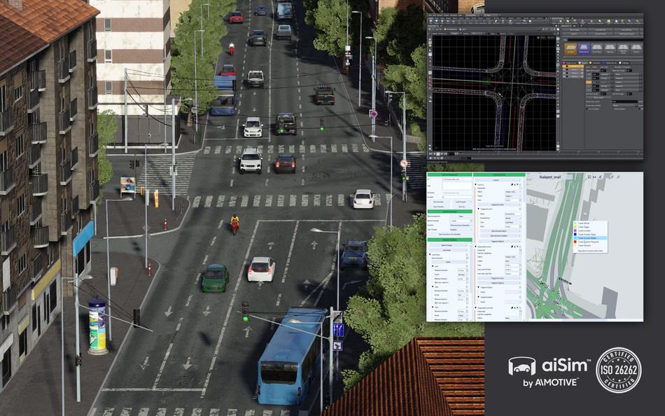 Screenshots from aiSim tools (PRNewsfoto/AImotive)