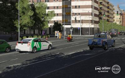 Actual screenshot from aiSim (PRNewsfoto/AImotive)