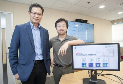 Professor Liu Jiming (left), Chair Professor and Dr Liu Yang (right), Assistant Professor of the Department of Computer Science at HKBU lead a study in developing a novel computational model that explicitly characterises and quantifies the underlying transmission patterns of COVID-19