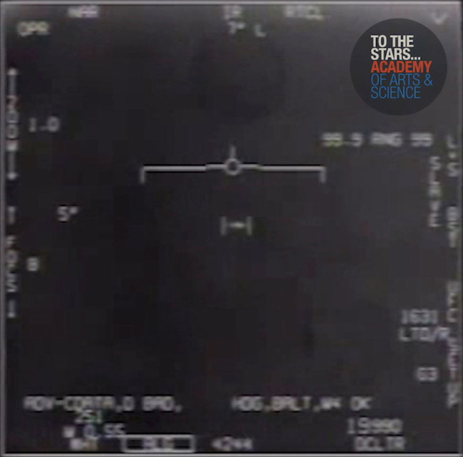 Official footage captured by elite US Navy Jet Fighter Pilots and released by To the Stars Academy of Arts & Science, now acknowledged by the Pentagon.
