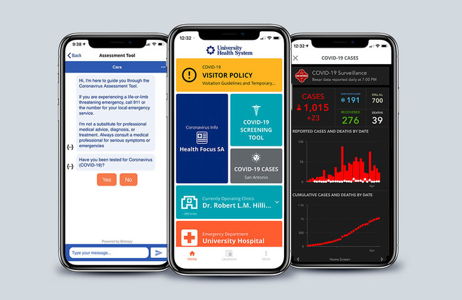 Gozio Health's COVID-19 Fast Track solution deploys in days and provides critical alerts and triage capabilities essential to hospitals' real time, mobile communications and ability to manage patient flow.