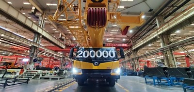 XCMG's 200,000th Wheeled Crane Rolls-off the Production Line.