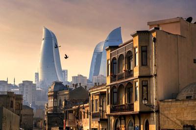 Baku, Icherisheher Old City and Flame Towers, Azerbaijan