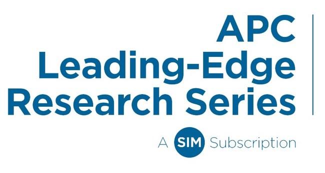 SIM APC Leading-Edge Research Series (logo)