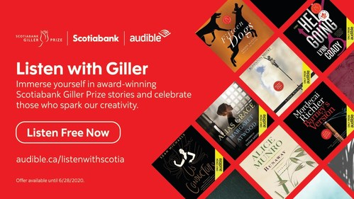 AUDIBLE.CA AND SCOTIABANK GIVE THE GIFT OF A LITERARY ESCAPE TO CANADIANS LISTENING #ALONETOGETHER (CNW Group/Scotiabank)