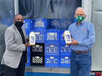 Kroger's Centennial Dairy partnership in Atlanta, GA with Dairy Farmers of America, to direct 24,000 half-gallons of milk to support health care workers and first responders in Augusta, Macon and Savannah, GA during the pandemic over the next month. Kroger kicked off the Great Georgia Give milk donation campaign in Metro Atlanta with Georgia Commissioner of Agriculture Gary W. Black.