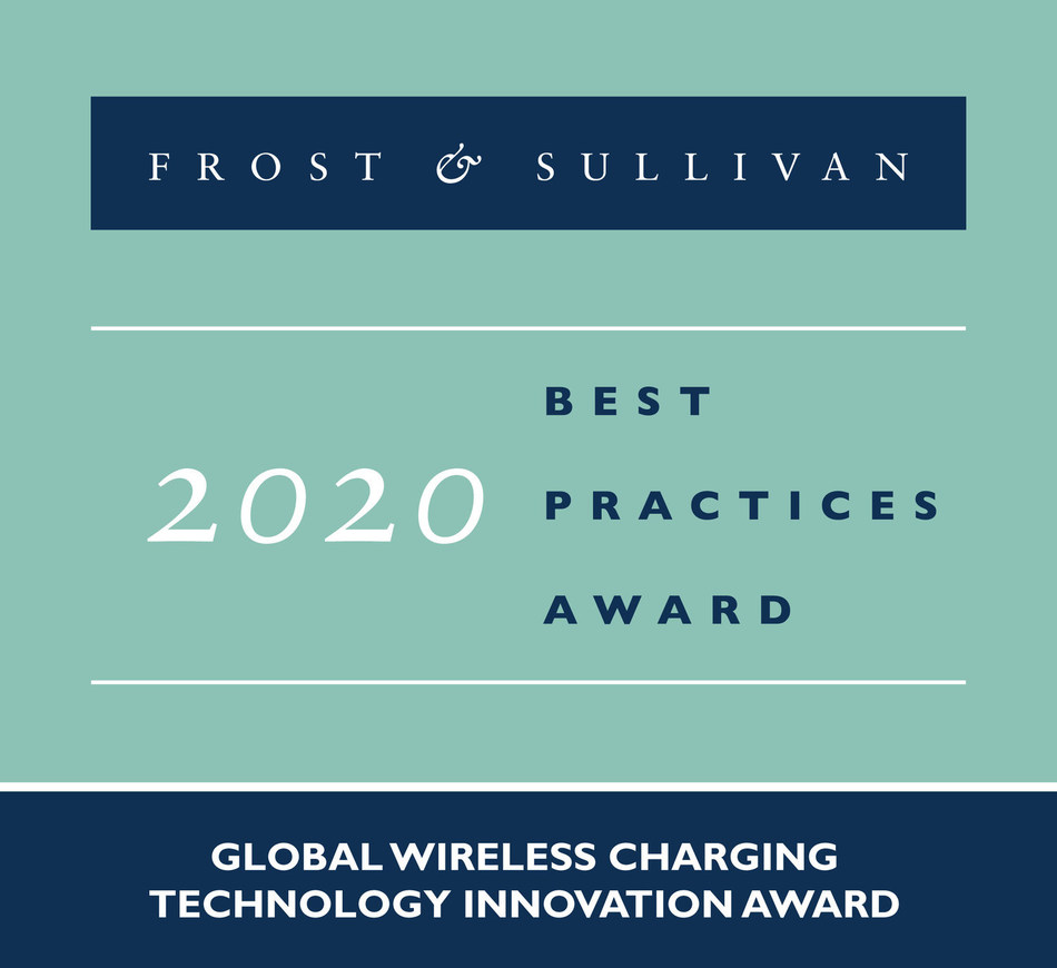 2020 Global Wireless Charging Technology Innovation Award (PRNewsfoto/Frost & Sullivan)