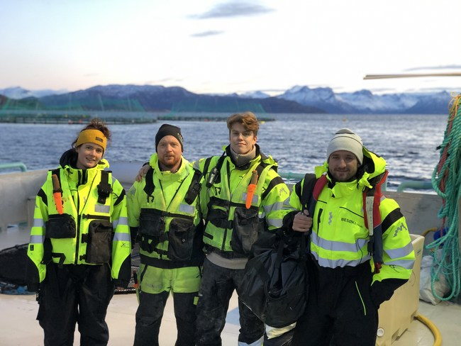 Kvarøy Arctic team on-site in Norway. In partnership with the James Beard Foundation, Kvarøy Arctic is offering the first Women in Aquaculture Scholarship Fund open to international applicants.