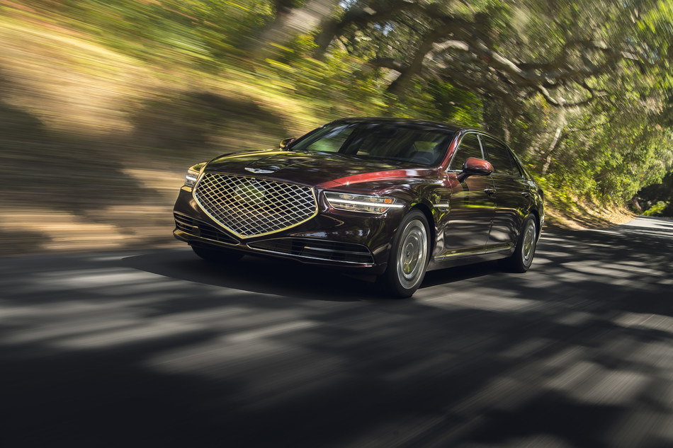 The new 2020 Genesis G90, sales up 26 percent April 2020 YTD.